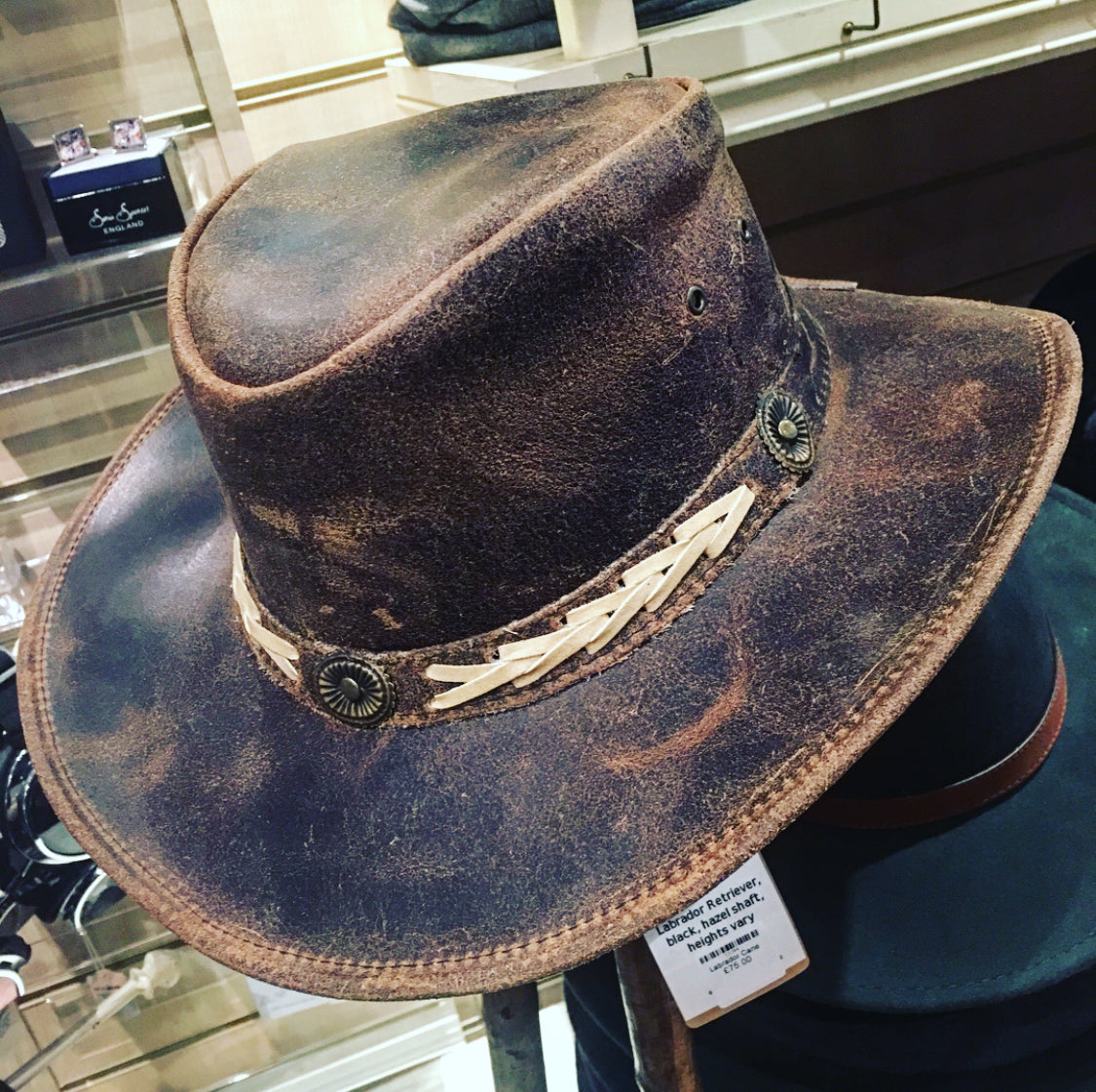 Firm Leather Cowboy Hat