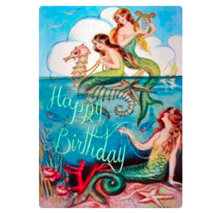 Card - Mermaids with Seahorse