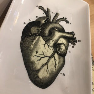Ceramic Anatomical Heart Trinket Tray