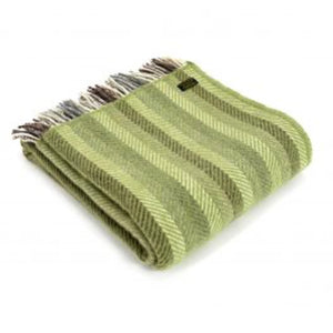 Pure New Wool Stripe Fringed Throw