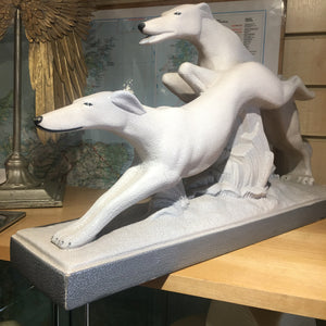 Continental Ceramic Figureen of two Grey Hounds
