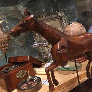 Beech Wood Polished Artists Model of Horse