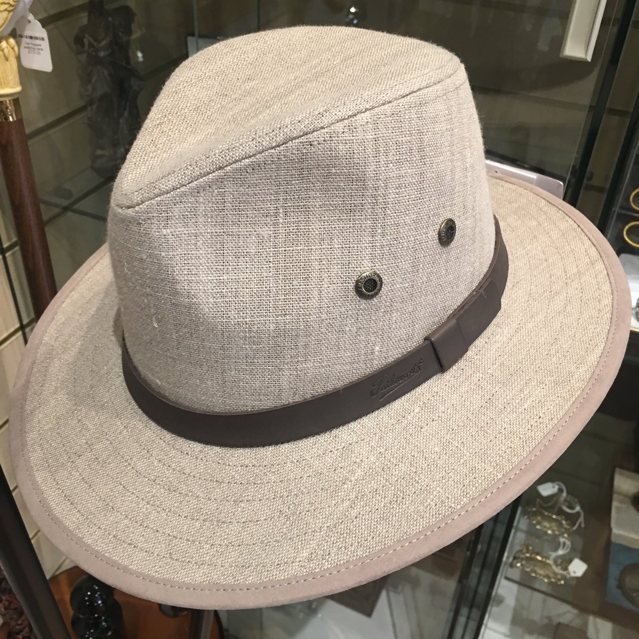 Irish Linen Safari Fedora Hat