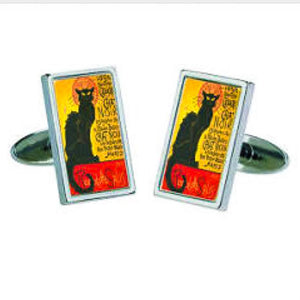 Cufflinks - Steinlen Chat Noir