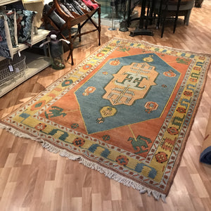 Rug - Yellow/Orange/Blue Pattern