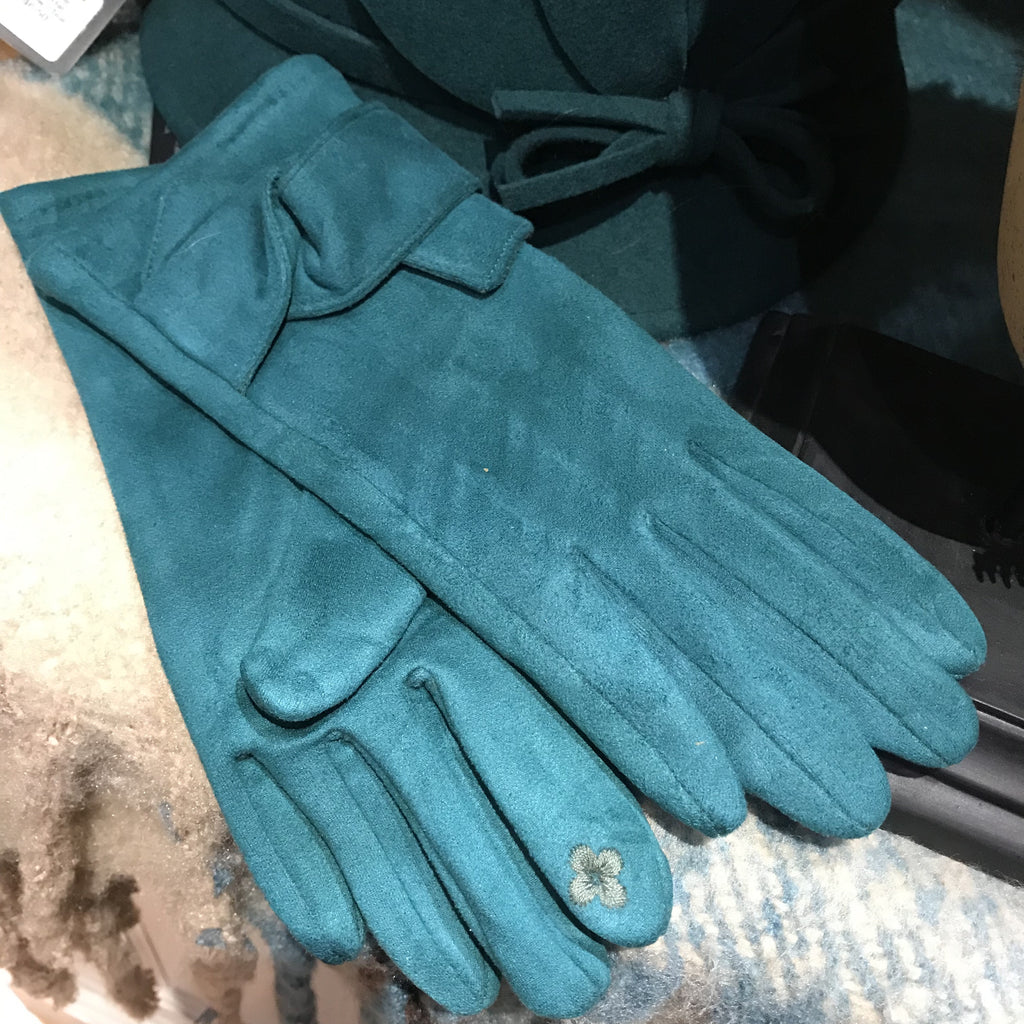 Suedette Bow Gloves