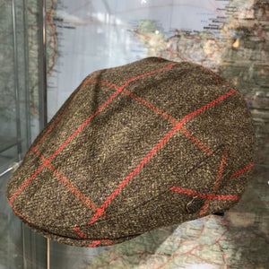 Gamekeeper tweed flat cap
