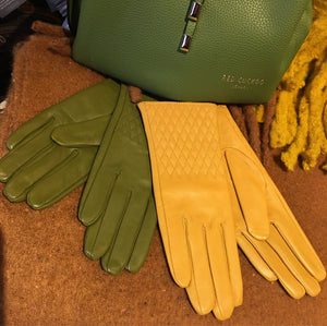 Fine Soft Leather Gloves With Quilted Detail