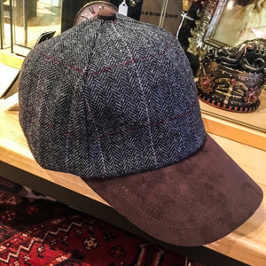 Baseball Cap Wool with Suede Peak E27-17