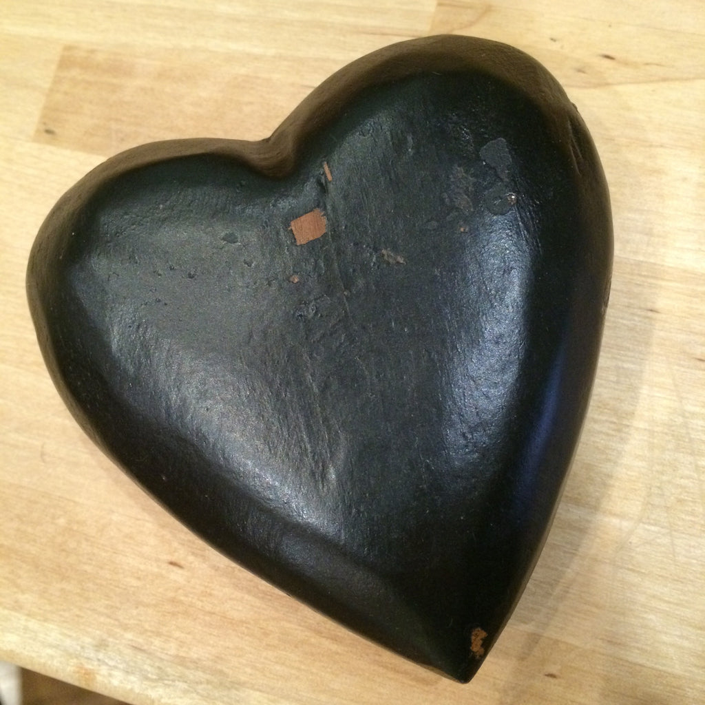 Wooden Black Heart