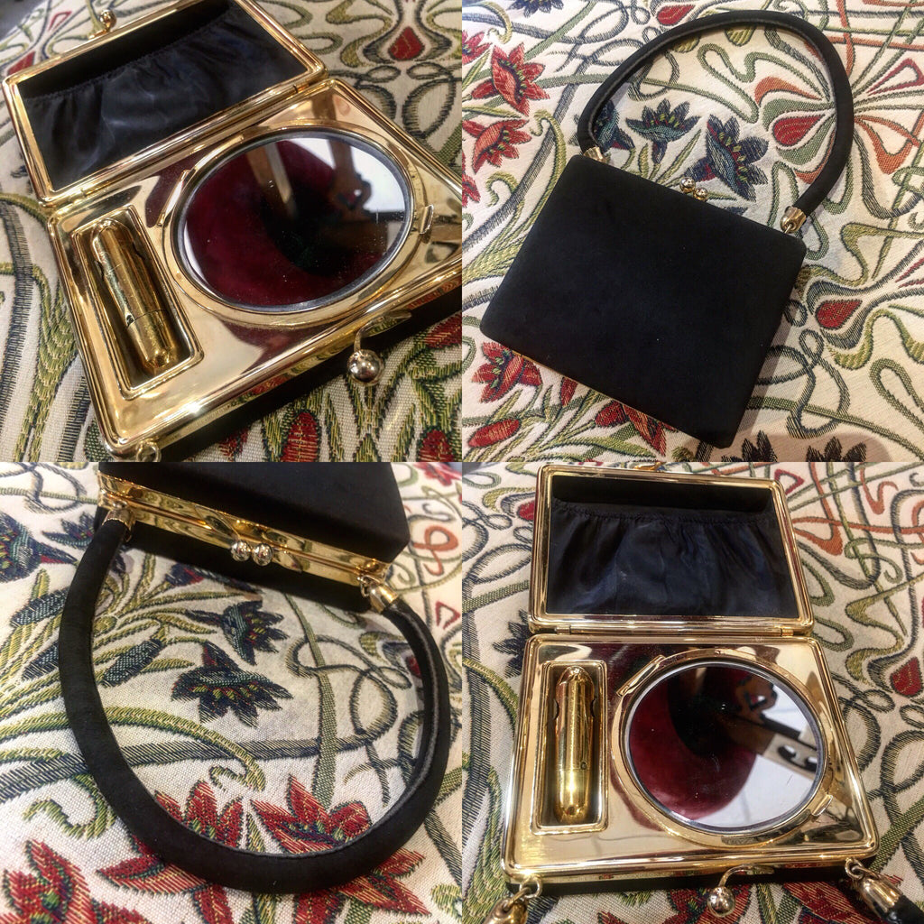 Vintage Compact/Lipstick Evening Purse