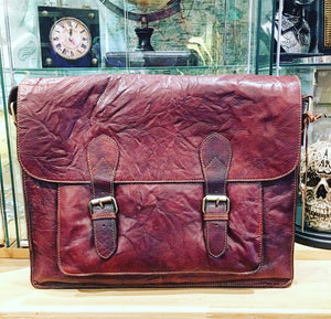 Scottish Leather Large Twin Buckle Flap Over Bag