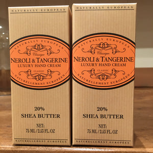 Naturally European Nerolie and /tangerine 75ml Hand Cream