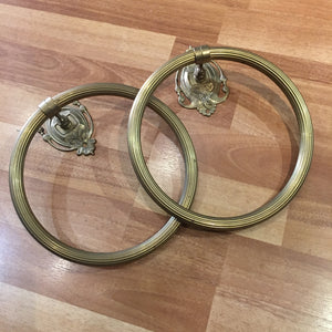 Vintage Italian Brass Nouveau Style Towel Ring