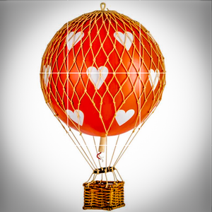 Red Heart Air Balloon Mobile