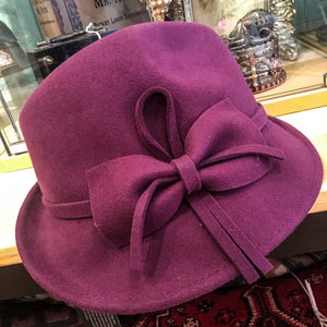 Trilby Style Cloche Hat with Bow