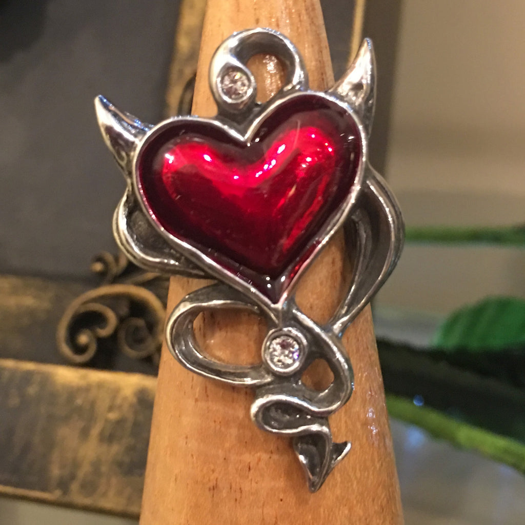 Devil's Heart Pewter Ring