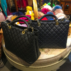 Quilted Italian Leather Handbag