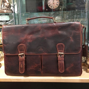 Large Leather Top Handled Briefcase