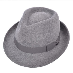 Trilby Crushable Grey Mix Wool Hat