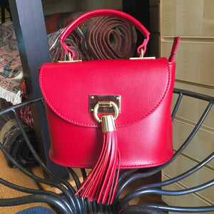 Italian Leather Red Small Bag