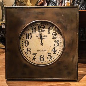 Large Metal Square Wall Clock