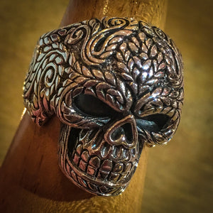 Decorative Skull Ring 925 Silver