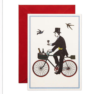 Card - Champagne Cyclist