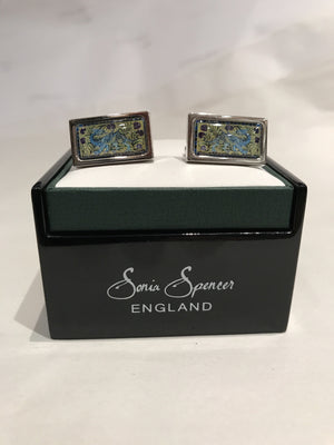 De Morgan Blue Dragon Cufflinks