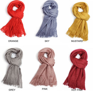 Cosy Scarf With Fringe