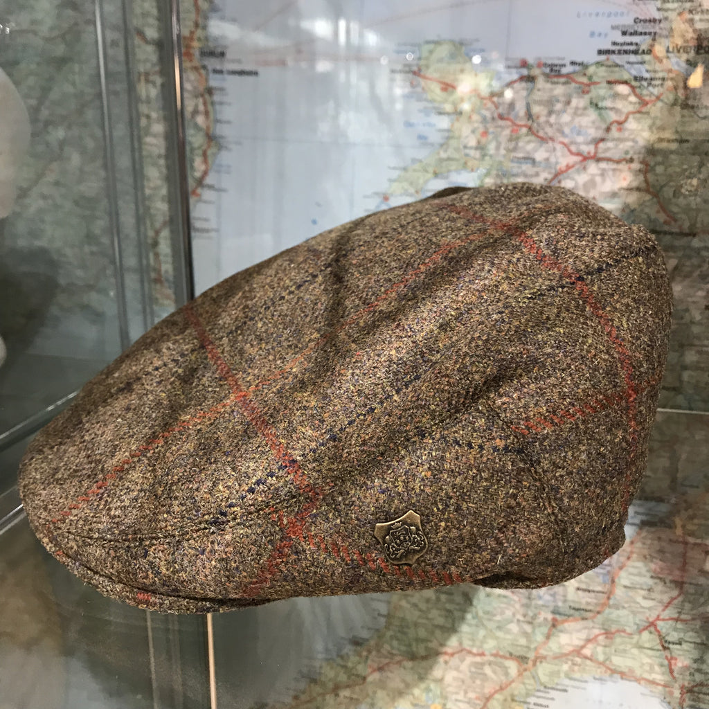 Gamekeepers tweed flat cap