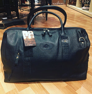 Large Leather Weekend Holdall Bag