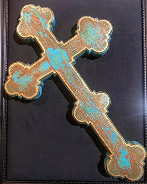 Four Corner Cross- Large Blue