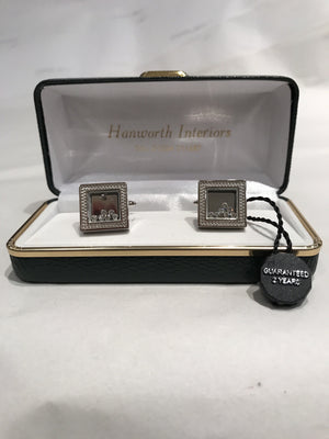 Diamonte Picture Frame Cufflinks