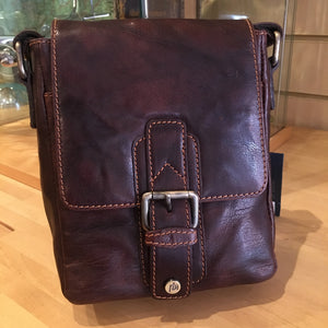 Trent cross body leather - brown