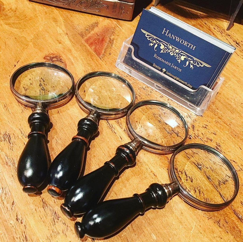 Magnifying Glass with Wooden Turned Handle