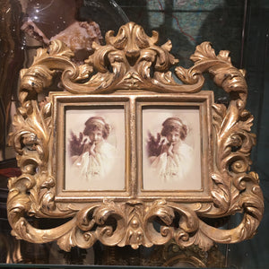 Gilded Double Photograph Frame