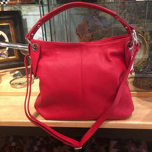 Soft Red Italian Leather Bag