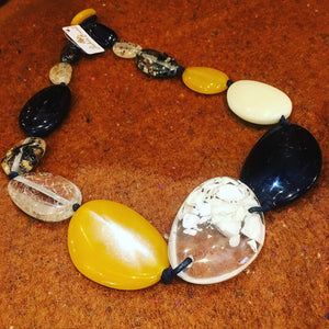 Acrylic Mixed Riverstone Necklace