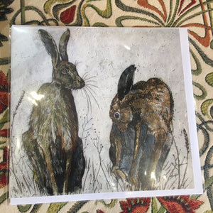 Card - Morning Hares