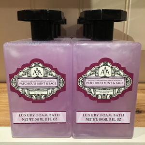 AAA Aroma Patchouli Mint and Sage 500ml Foam Bath