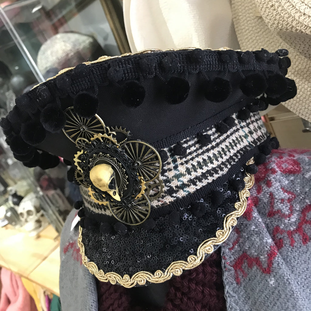 Military style steampunk kink festival hat