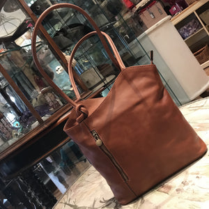Brown Leather Rucksack Bag