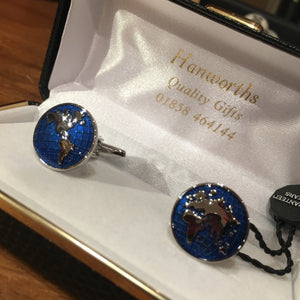 Blue Atlas Cufflinks