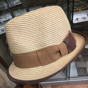 Soft Crushable Straw Trilby Hat