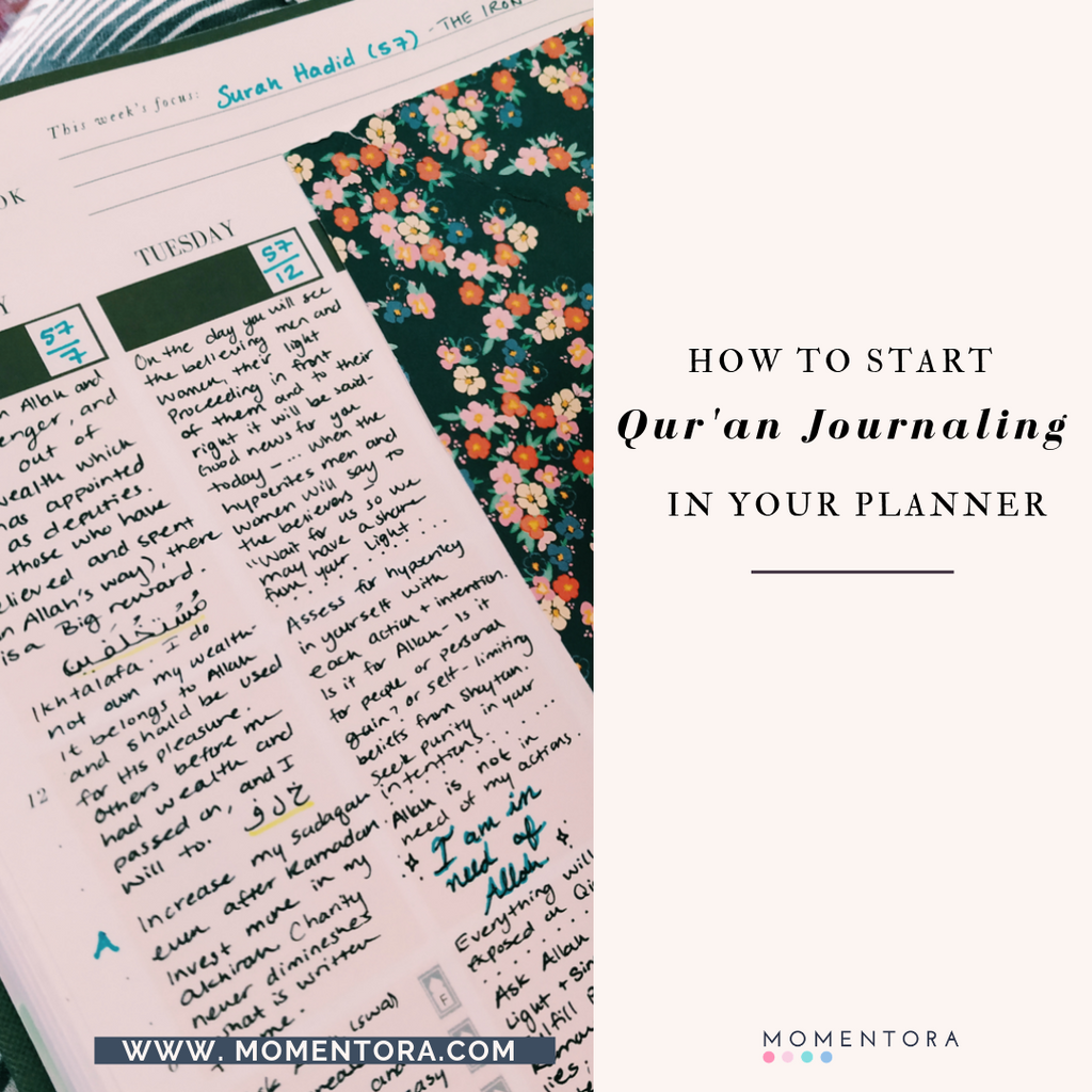 How to start Qur'an Journaling Using SOAP notes in your Seeking Jannah Planner