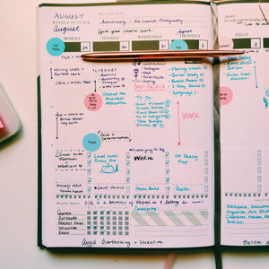 Seeking Jannah Undated Planner (Bleu)