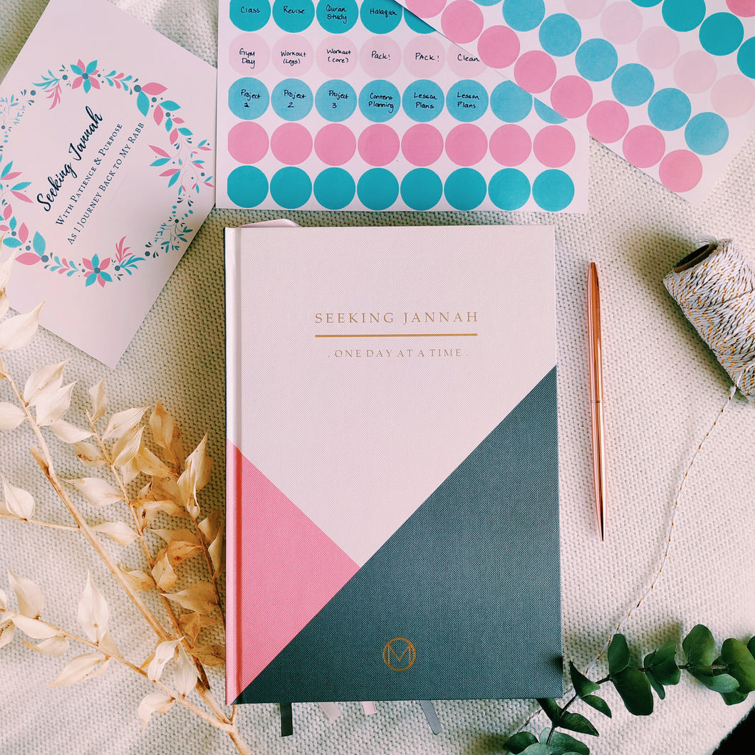 Seeking Jannah Undated Planner Bundle - Salmon