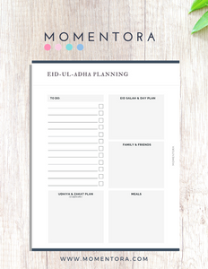 Eid-Ul-Fitr Planning Sheets