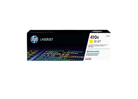 HP 410X (CF412X) Color LaserJet Pro M452 MFP M477 High Yield Yellow Original LaserJet Contract Toner Cartridge (5000 Yield)